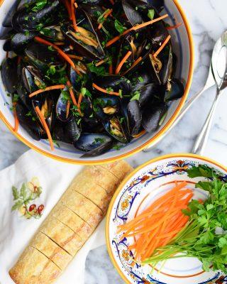 Mussels al Sambuca – Cozze al Sambuca