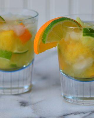 Lime-Orange Caipirinha