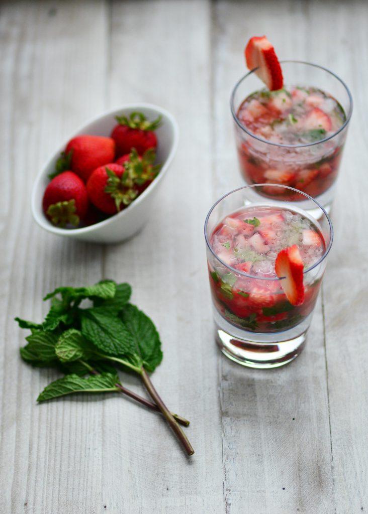 Strawberry Mint Caipirinha MyGlobalCuisine