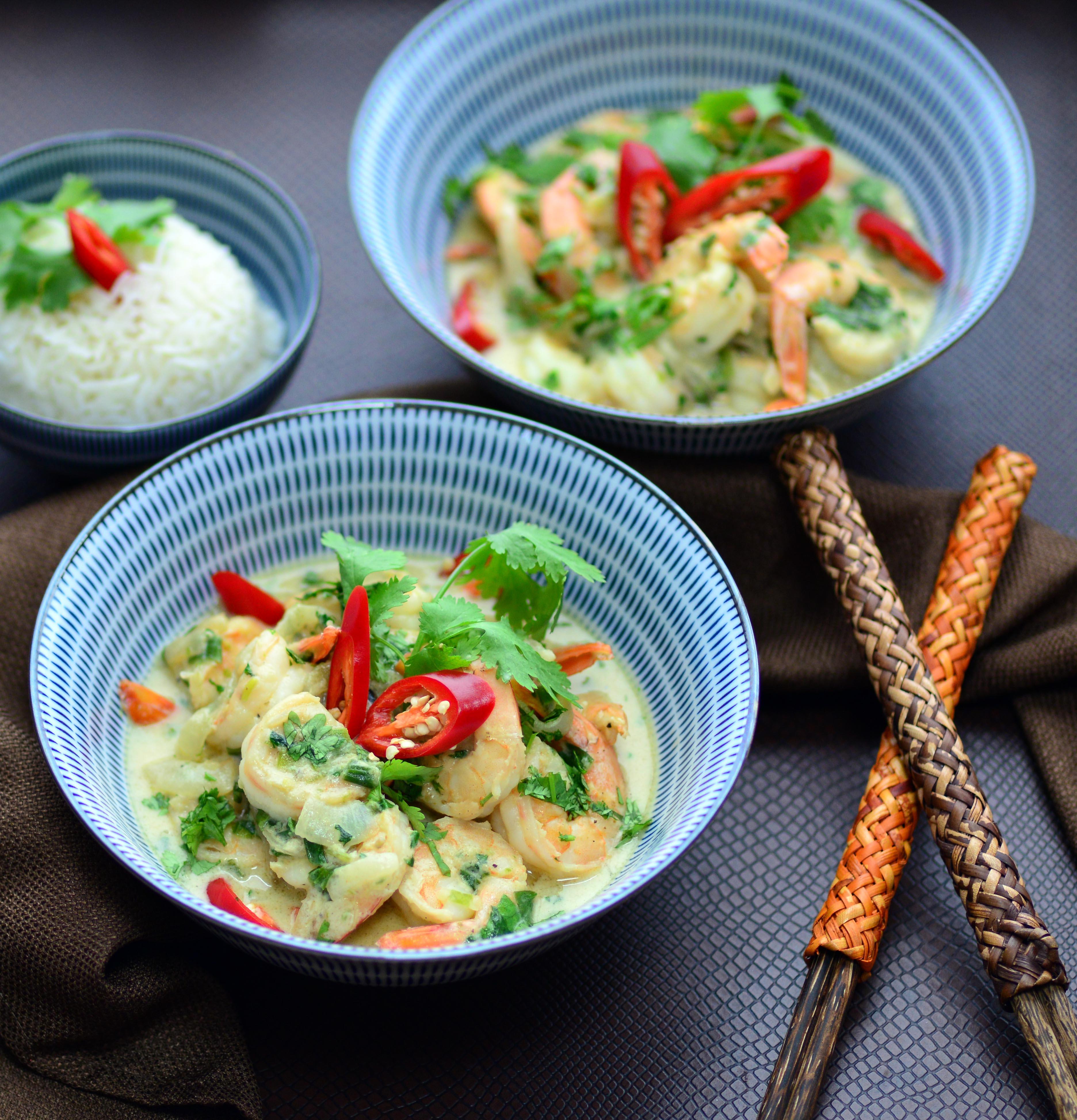 Authentic Thai Green Curry Shrimp