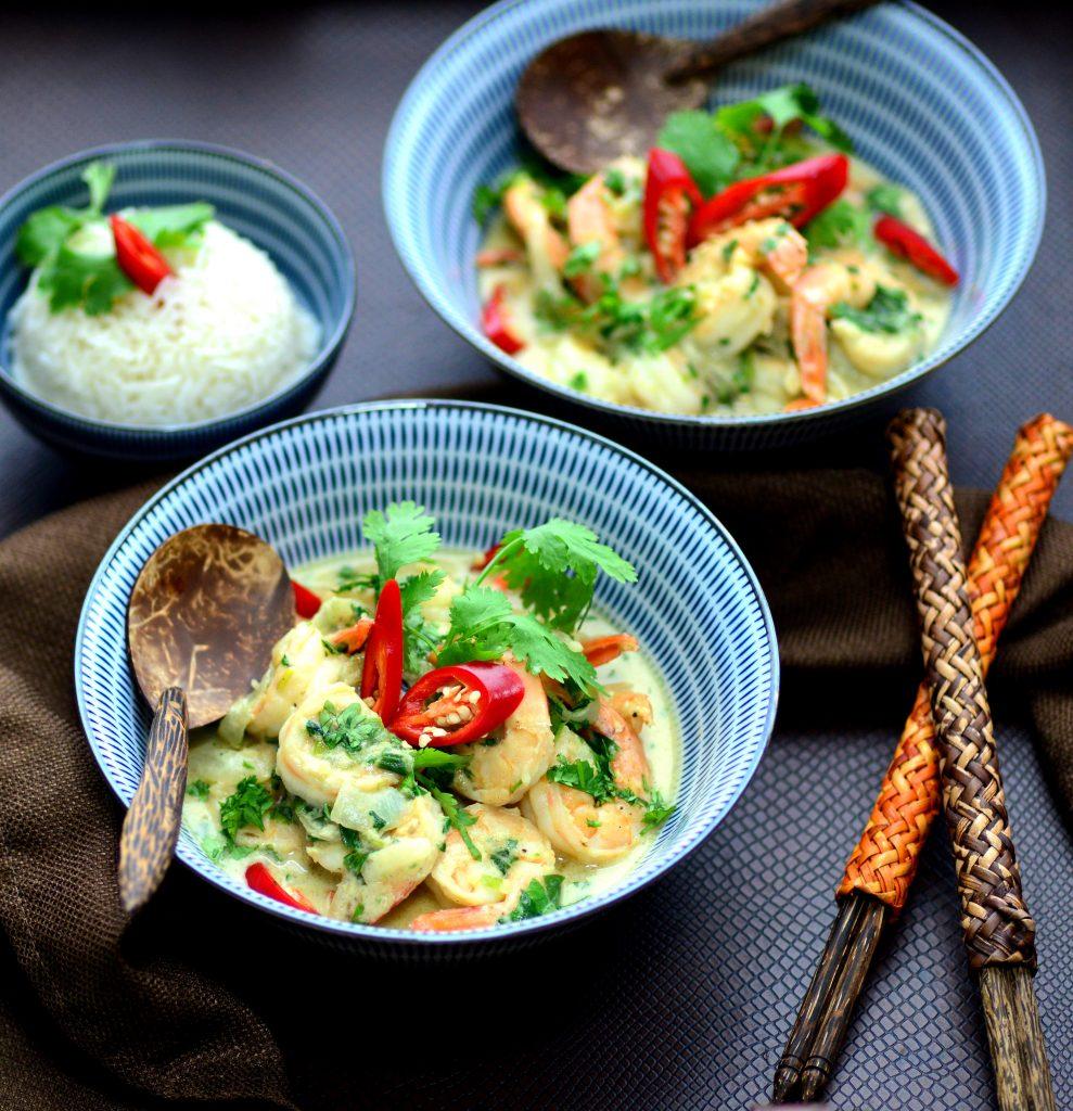 Authentic Thai Green Curry Shrimp|My Global Cuisine