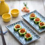 Salmon Tartare Cucumber Cups