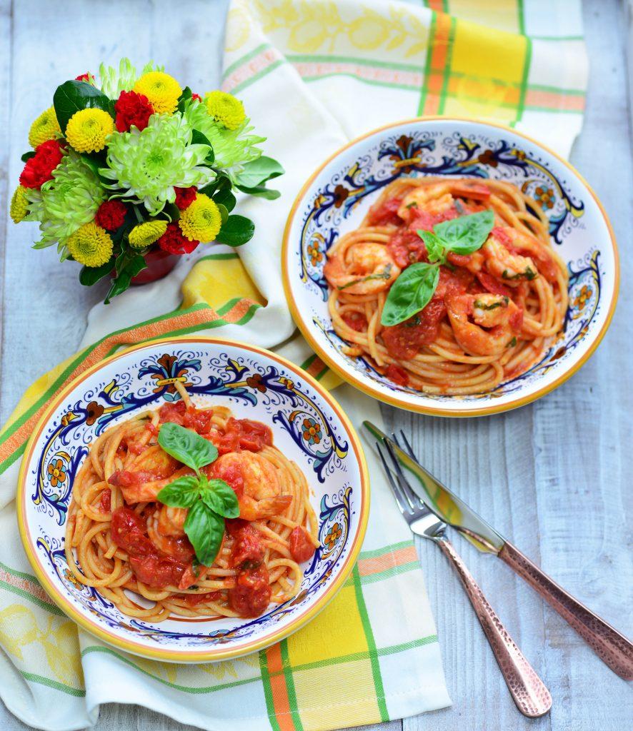 Pasta al Pomodoro with Shrimp|My Global Cuisine
